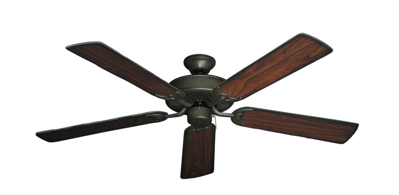 "Picture of Bermuda Breeze V Oil Rubbed Bronze with 52"" Burnt Cherry Blades"