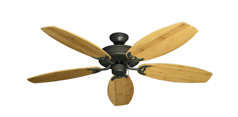 "Picture of Bermuda Breeze V Oil Rubbed Bronze with 52"" Oar Bamboo Brown Blades"
