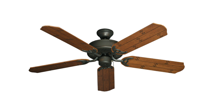 "Picture of Bermuda Breeze V Oil Rubbed Bronze with 52"" Cherry Plank Blades"