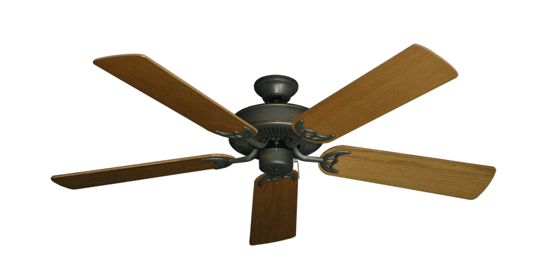 "Picture of Bermuda Breeze V Oil Rubbed Bronze with 52"" Light Oak Blades"