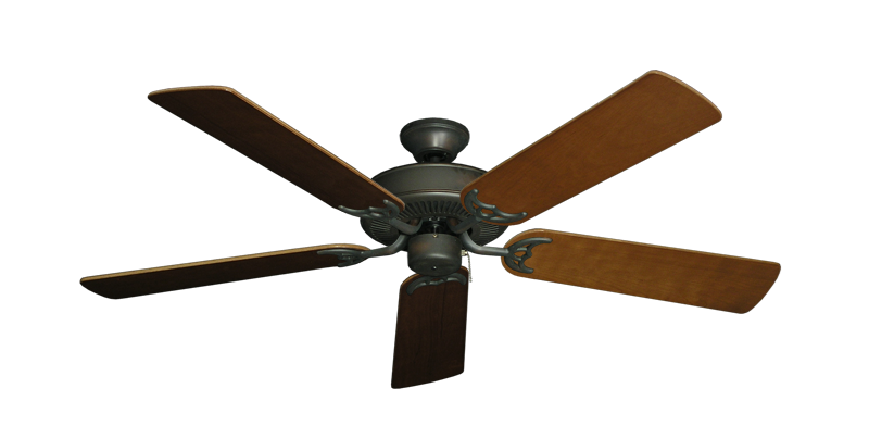"Picture of Bermuda Breeze V Oil Rubbed Bronze with 52"" Natural Cherry Blades"