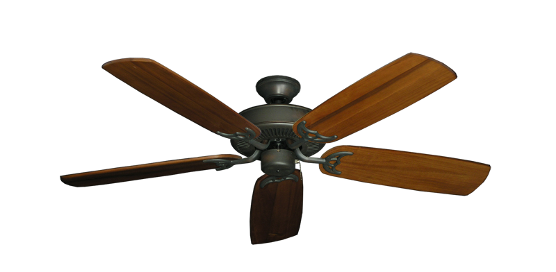 """Picture of Bermuda Breeze V Oil Rubbed Bronze with 52"""" Series 425 Arbor Oak Blades"""