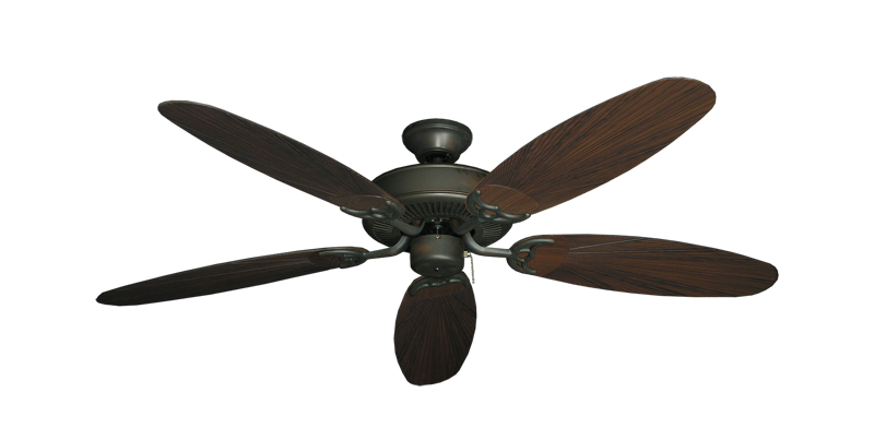 """Bermuda Breeze V Oil Rubbed Bronze with 52"""" Outdoor Leaf Oil Rubbed Bronze Blades"""
