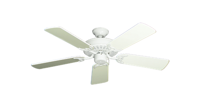 "Picture of Bimini Breeze V Pure White with 44"" Antique White Gloss Blades"