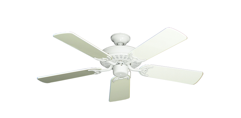 "Bimini Breeze V Pure White with 44"" Antique White Gloss Blades"