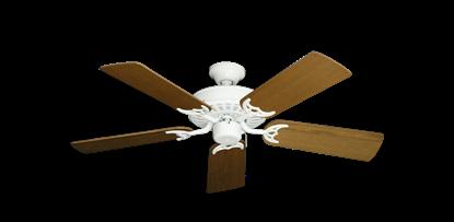"Picture of Bimini Breeze V Pure White with 44"" Light Oak Blades"