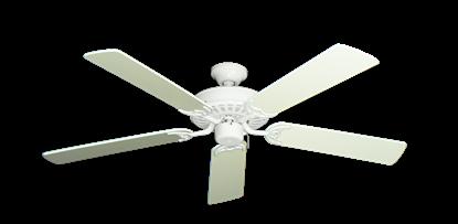 """Picture of Bimini Breeze V Pure White with 52"""" Antique White Blades"""