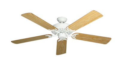 "Picture of Bimini Breeze V Pure White with 52"" Maple Blades"