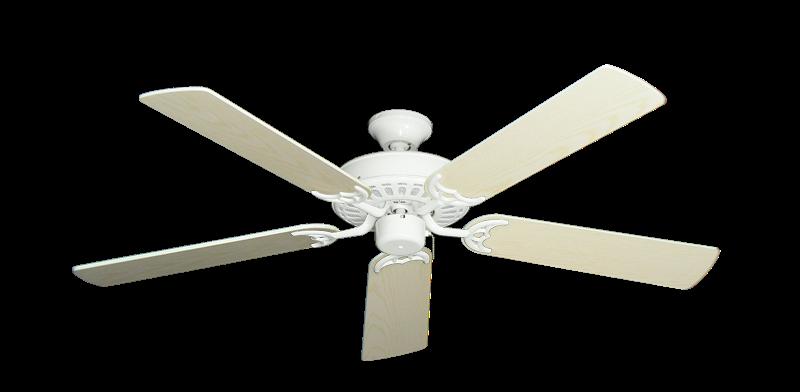 "Picture of Bimini Breeze V Pure White with 52"" Pine Blades"