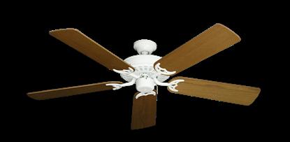 "Picture of Bimini Breeze V Pure White with 52"" Light Oak Blades"