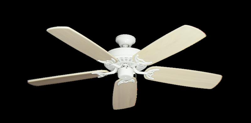 "Picture of Bimini Breeze V Pure White with 52"" Series 425 Arbor Whitewash Blades"