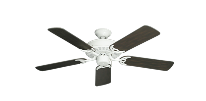 "Picture of Bimini Breeze V Pure White with 44"" Outdoor Oil Rubbed Bronze Blades"