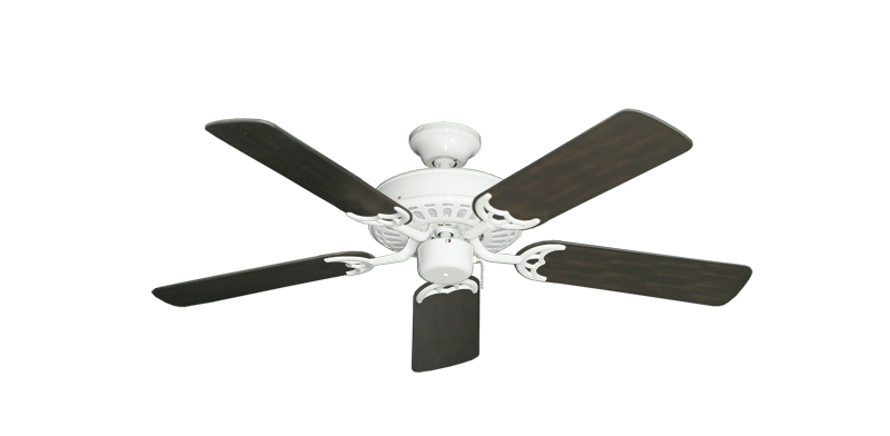 """Picture of Bimini Breeze V Pure White with 44"""" Outdoor Oil Rubbed Bronze Blades"""