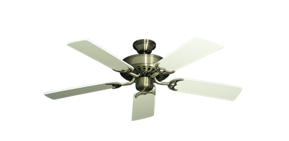 """Picture of Bimini Breeze V Antique Brass with 44"""" Antique White Blades"""