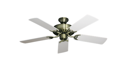 """Picture of Bimini Breeze V Antique Brass with 44"""" Pure White Blades"""