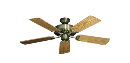 """Picture of Bimini Breeze V Antique Brass with 44"""" Oak Gloss Blades"""