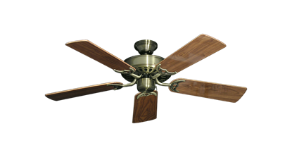 """Picture of Bimini Breeze V Antique Brass with 44"""" Walnut Gloss Blades"""
