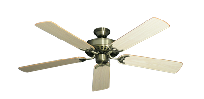 """Picture of Bimini Breeze V Antique Brass with 52"""" Bleached Oak Gloss Blades"""