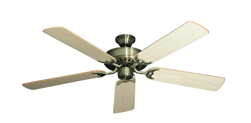 "Picture of Bimini Breeze V Antique Brass with 52"" Bleached Oak Gloss Blades"