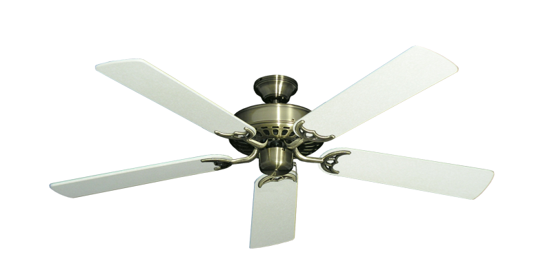 "Picture of Bimini Breeze V Antique Brass with 52"" Navajo White Blades"