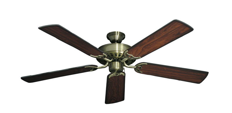 "Picture of Bimini Breeze V Antique Brass with 52"" Burnt Cherry Blades"