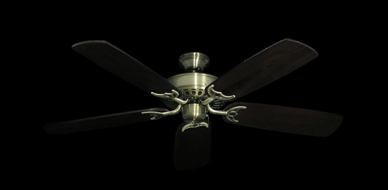 "Picture of Bimini Breeze V Antique Brass with 52"" Series 425 Arbor Dark Walnut Blades"