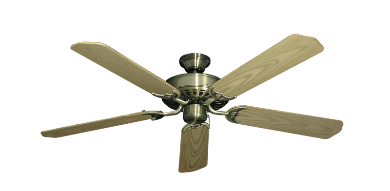 "Picture of Bimini Breeze V Antique Brass with 52"" Outdoor Bleached Oak Blades"