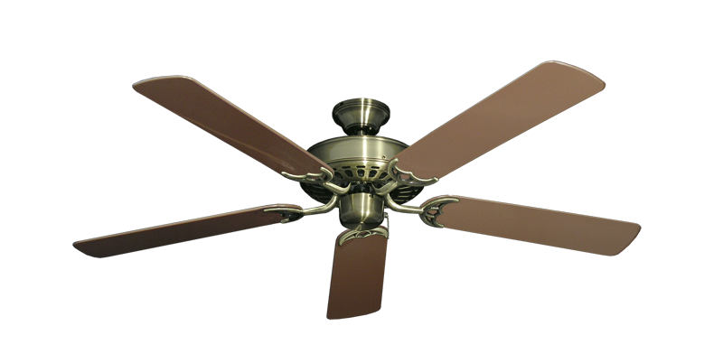 "Picture of Bimini Breeze V Antique Brass with 52"" Outdoor Brown Blades"