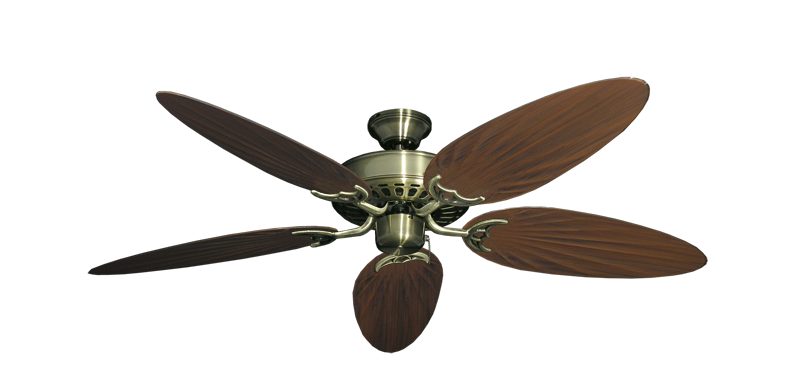 "Picture of Bimini Breeze V Antique Brass with 52"" Outdoor Palm Oil Rubbed Bronze Blades"