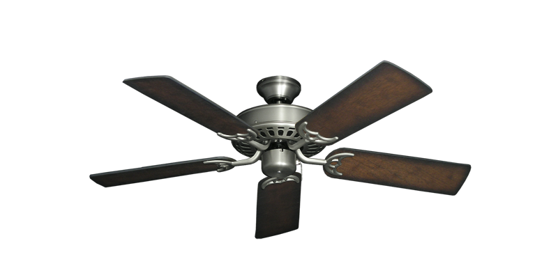 """Picture of Bimini Breeze V Satin Steel with 44"""" Distressed Hickory Blades"""