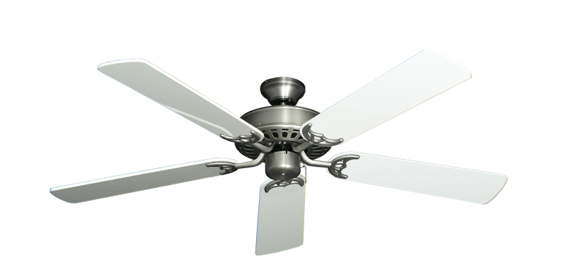 "Picture of Bimini Breeze V Satin Steel with 52"" Pure White Gloss Blades"