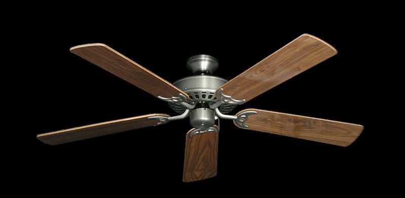 """Bimini Breeze V Satin Steel with 52"""" Walnut Gloss Blades"""