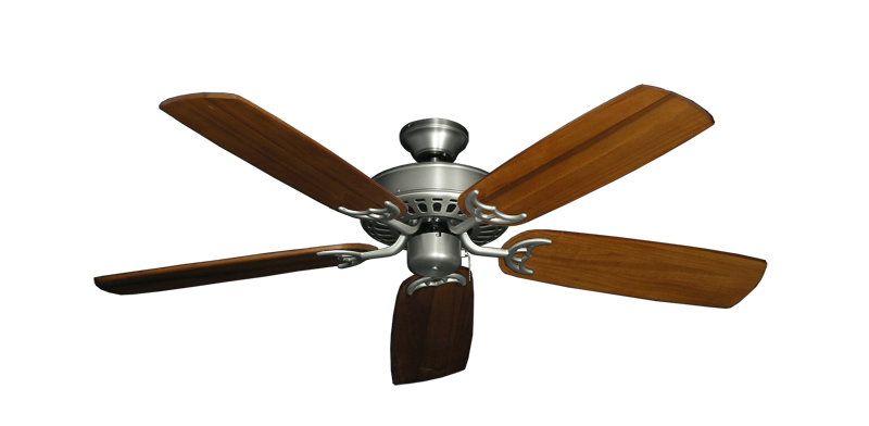 "Picture of Bimini Breeze V Satin Steel with 52"" Series 425 Arbor Oak Blades"