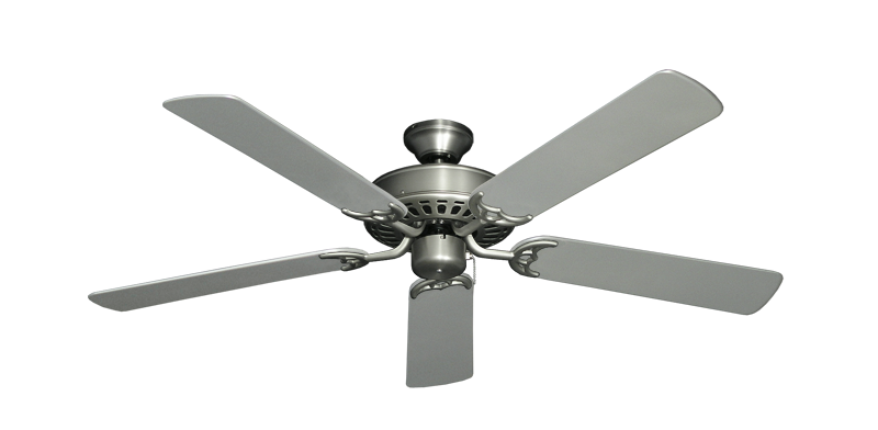"Picture of Bimini Breeze V Satin Steel with 52"" Outdoor Brushed Nickel Blades"