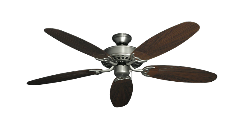 """Picture of Bimini Breeze V Satin Steel with 52"""" Outdoor Leaf Oil Rubbed Bronze Blades"""