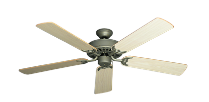 "Picture of Bimini Breeze V Antique Bronze with 52"" Bleached Oak Gloss Blades"