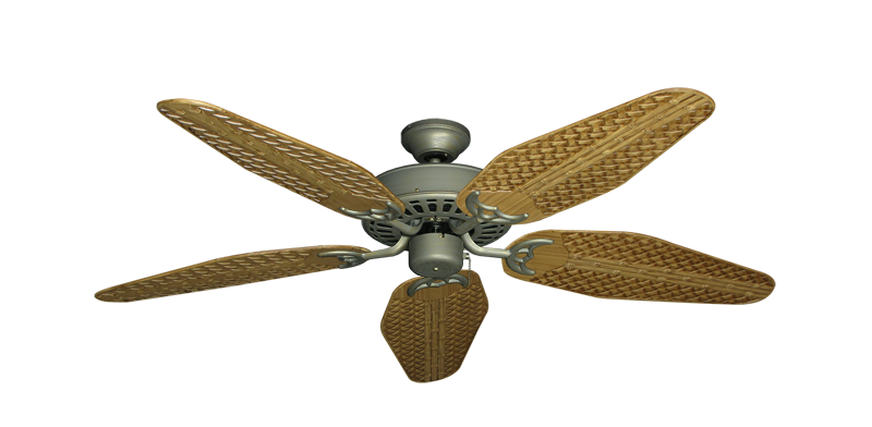 """Picture of Bimini Breeze V Antique Bronze with 52"""" Outdoor Weave Walnut Blades"""