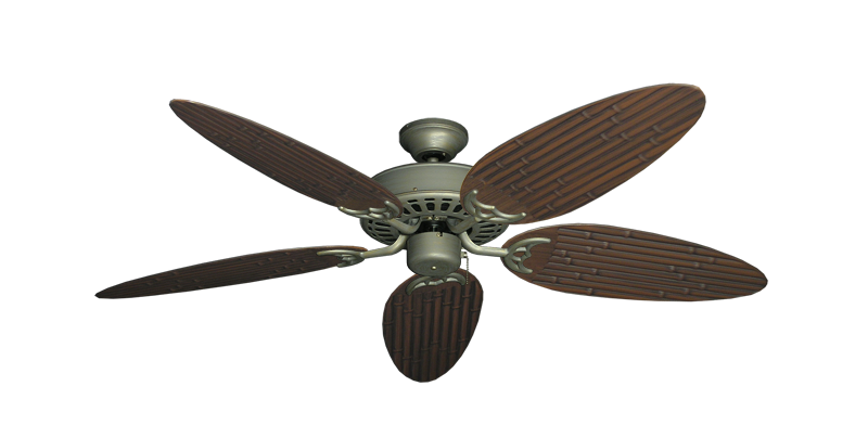 """Picture of Bimini Breeze V Antique Bronze with 52"""" Outdoor Bamboo Oil Rubbed Bronze Blades"""
