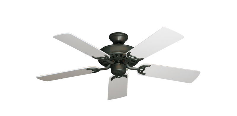 "Picture of Bimini Breeze V Oil Rubbed Bronze with 44"" Pure White Blades"