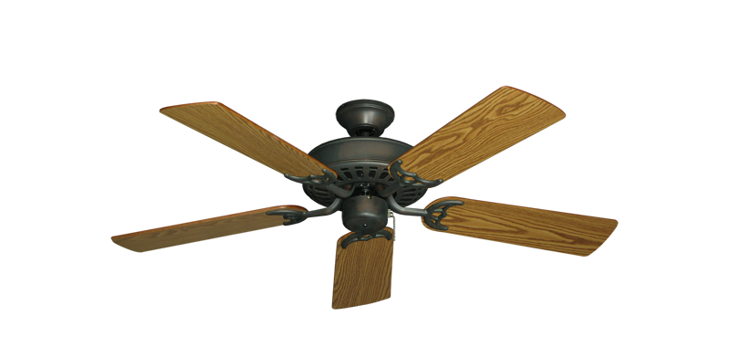 "Picture of Bimini Breeze V Oil Rubbed Bronze with 44"" Oak Blades"