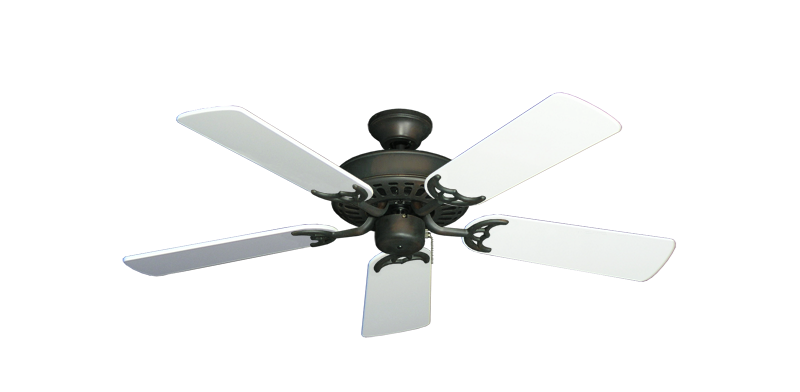 "Picture of Bimini Breeze V Oil Rubbed Bronze with 44"" Pure White Gloss Blades"