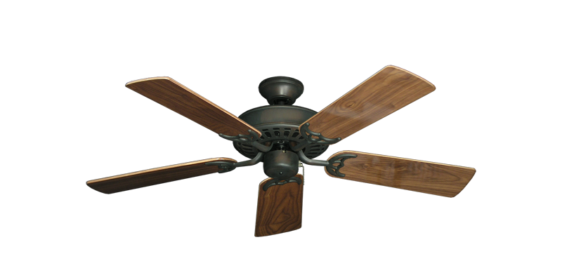 """Picture of Bimini Breeze V Oil Rubbed Bronze with 44"""" Walnut Gloss Blades"""