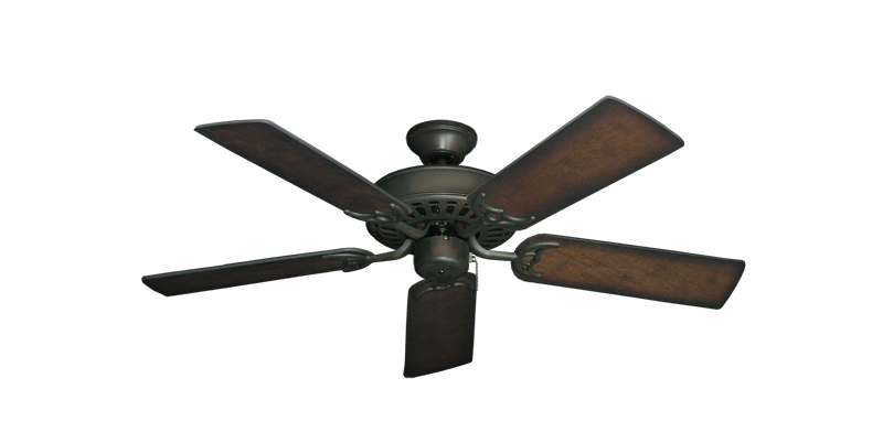 "Bimini Breeze V Oil Rubbed Bronze with 44"" Distressed Hickory Blades"