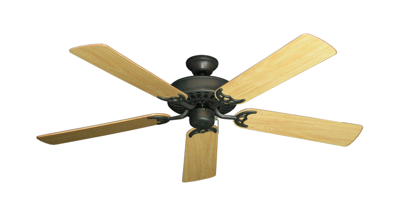 "Picture of Bimini Breeze V Oil Rubbed Bronze with 52"" Honey Oak Gloss Blades"