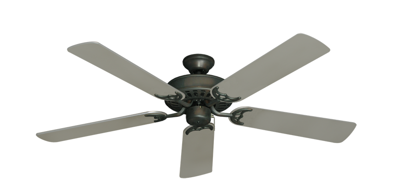 """Picture of Bimini Breeze V Oil Rubbed Bronze with 52"""" Satin Steel (painted) Blades"""