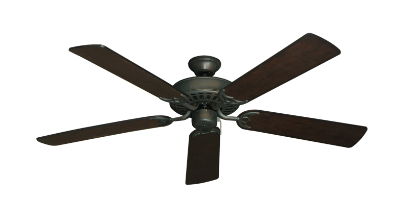 "Picture of Bimini Breeze V Oil Rubbed Bronze with 52"" Distressed Walnut Blades"