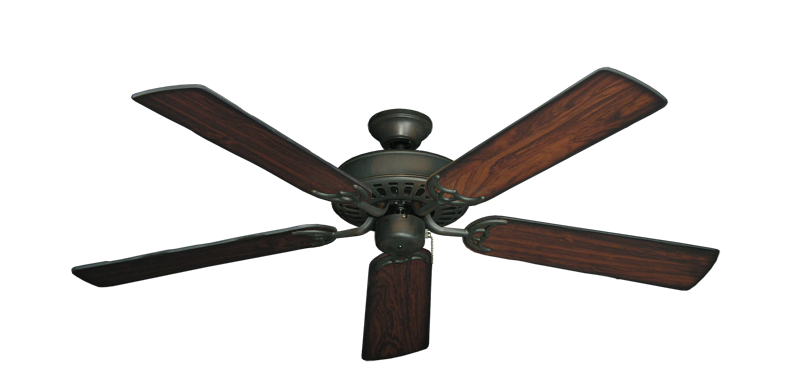 "Picture of Bimini Breeze V Oil Rubbed Bronze with 52"" Burnt Cherry Blades"