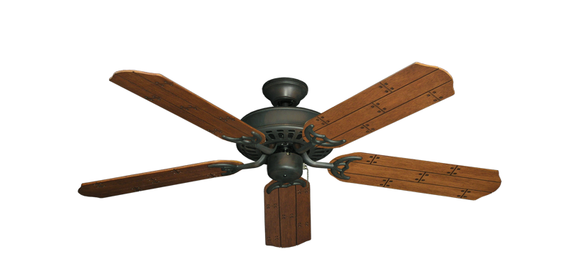 """Picture of Bimini Breeze V Oil Rubbed Bronze with 52"""" Cherry Plank Blades"""