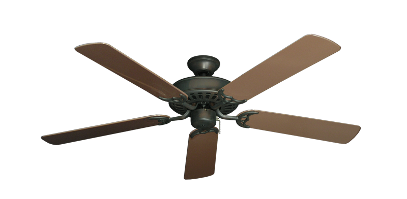 """Picture of Bimini Breeze V Oil Rubbed Bronze with 52"""" Outdoor Brown Blades"""