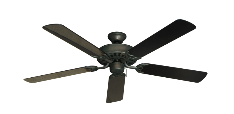 """Picture of Bimini Breeze V Oil Rubbed Bronze with 52"""" Outdoor Black Blades"""